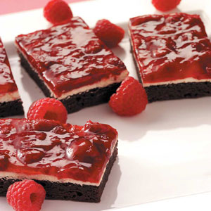 raspberry brownie dessert recipe magazine pic
