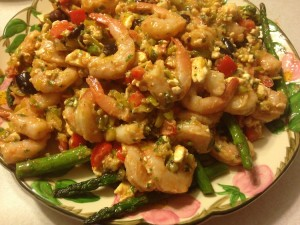 pepperoncini shrimp salad with asparagus spears recipe
