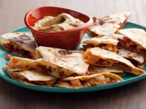 chorizo and shrimp quesadillas with smoky guacamole recipe